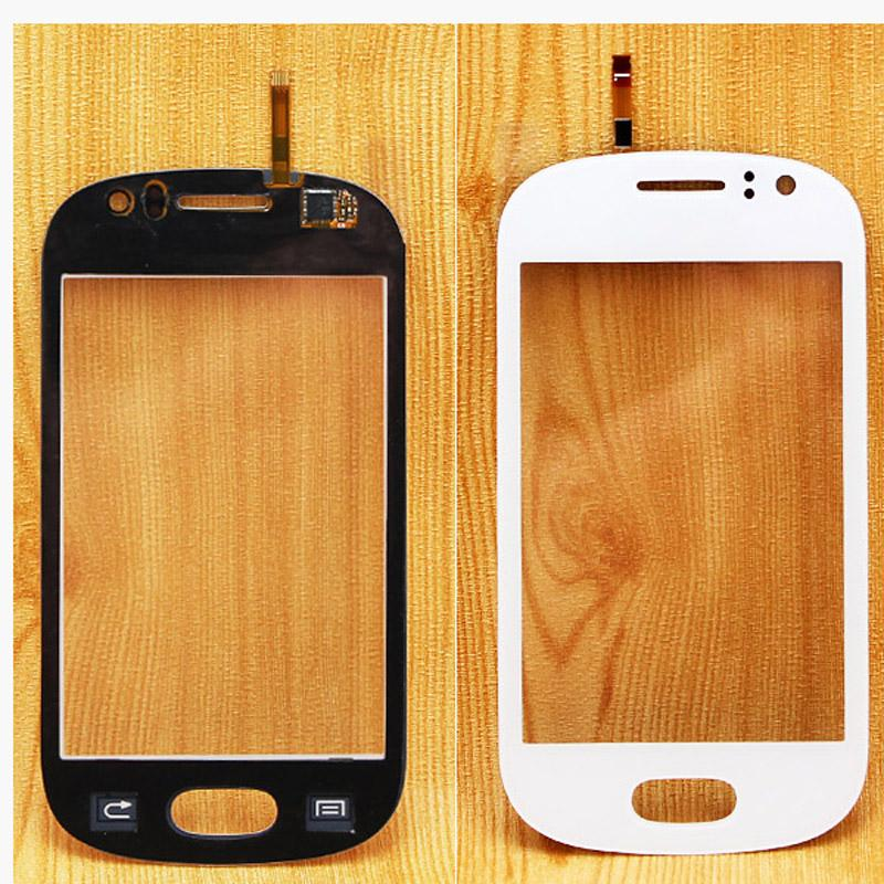 White black Touch Screen Digitizer touch panel glass repalcement parts with DUOS logo for Samsung Galaxy Fame S6810