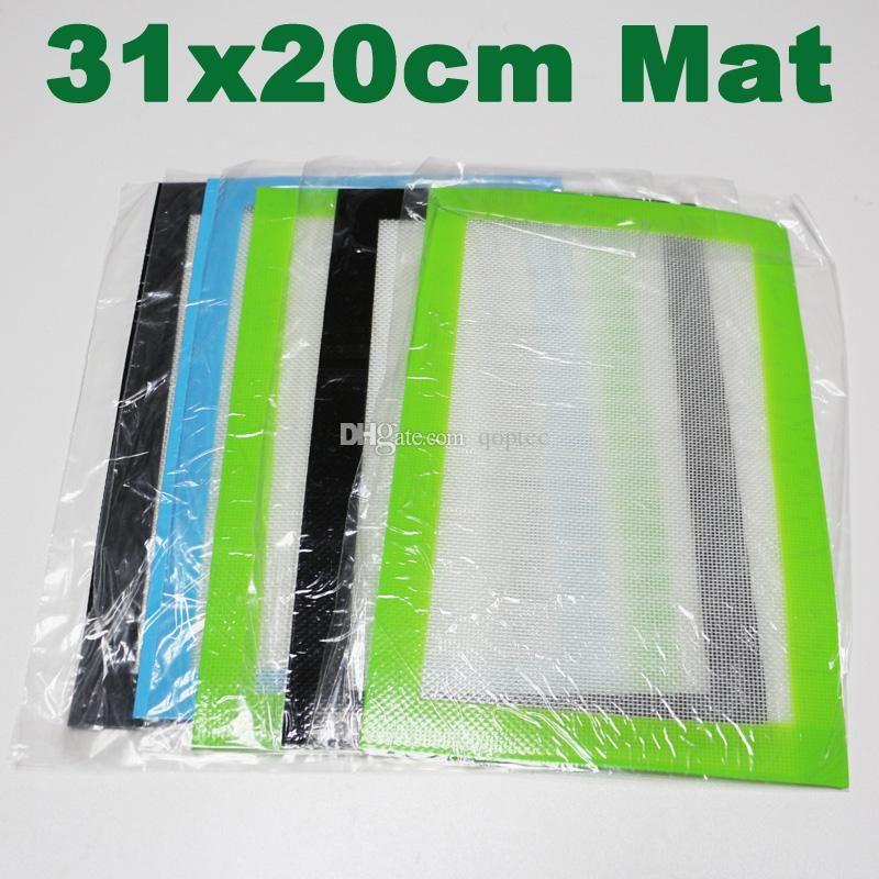 Премиум качество 31 * 20см силиконовый коврик с антипригарным покрытием с силиконовыми прокладками фирберкласс