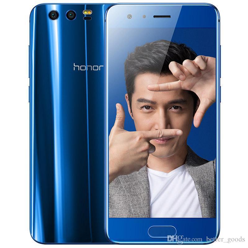 """الأصلي Huawei Honor 9 4G LTE الهاتف الخليوي 6 جيجابايت RAM 64GB ROM Kirin 960 Octa Core Android 5.15 """"شاشة FHD 20.0MP بصمات الأصابع معرف NFC OTG 3200mAh الهاتف المحمول الذكي"""