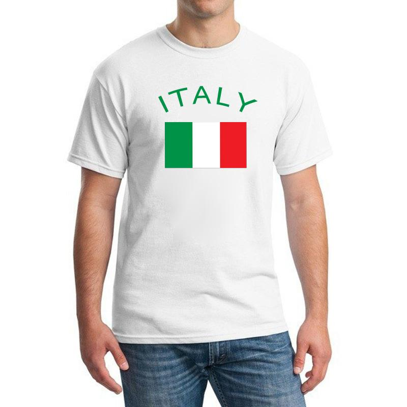 이탈리아 팬들 Cheer 플래그 티셔츠 유럽 축구 스포츠 T 셔츠 100 % 코튼 헬스 클럽 티셔츠 남성 의류