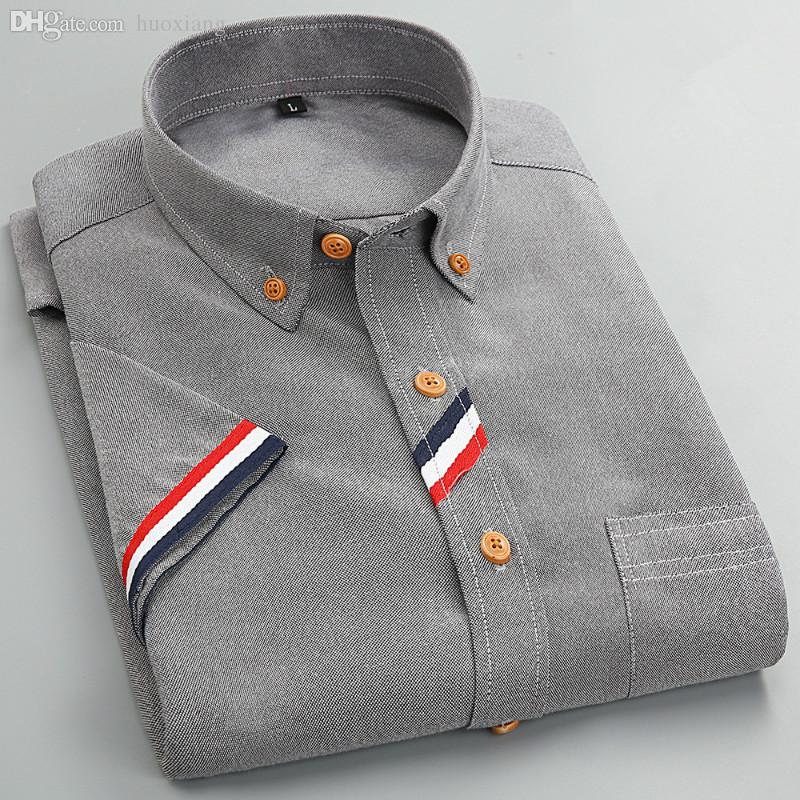 Wholesale-2016 New Fashion Solid Color Men Dress Shirt Short Sleeve Unique Design Social Camisas Muscle Fitted Casual Manly Clothes S-4XL