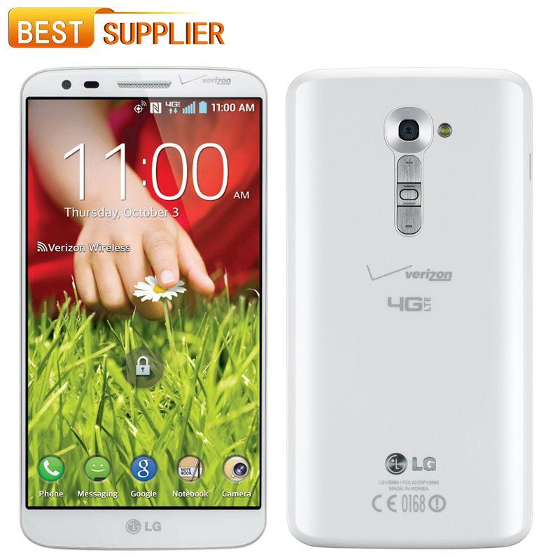 2016 최고 패션 진짜 원래 3G 및 4G 와이파이 GPS NFC 13Mp 카메라 16 / 32GB ROM 쿼드 코어와 LG G2 휴대 전화 잠금 해제