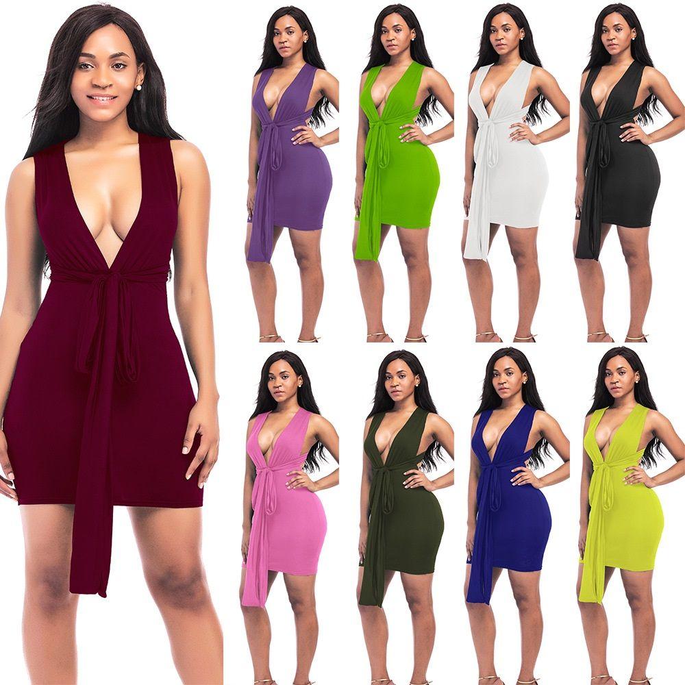 Sexy robe de nuit couleur 9 5 verges discothèque bind habiller une variété de porter courte robe bandage robes de mode d'été, plus la taille NYC168