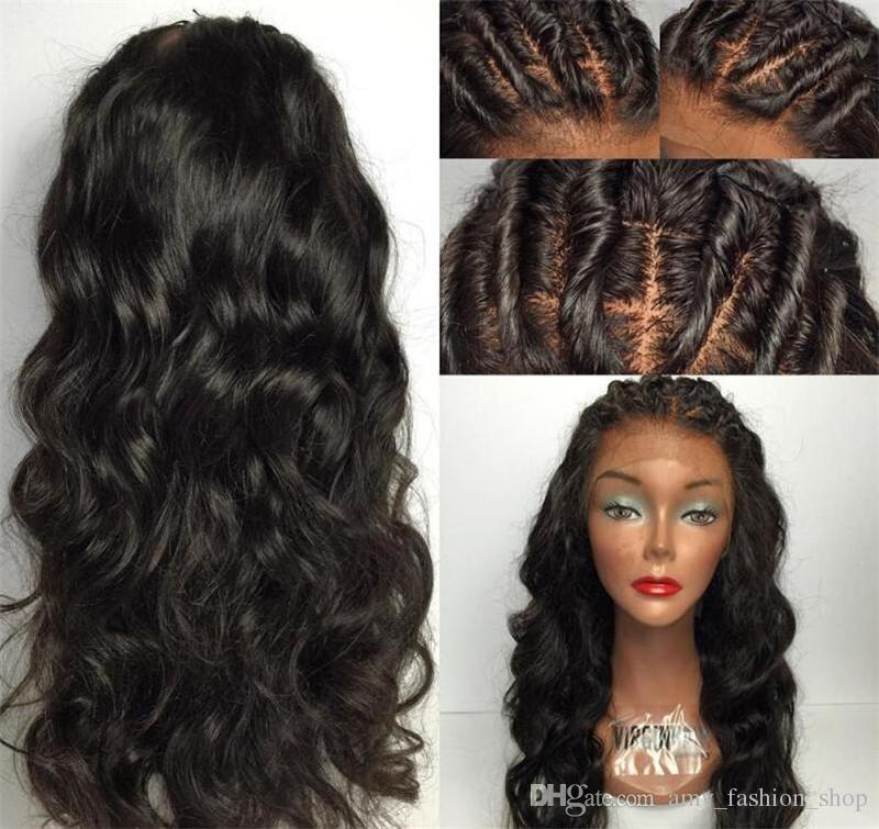 Wet Wavy Full Lace Wigs Brazilian Full Lace Human Hair Wigs For Black Women Gluless Lace Front Wigs With Baby Hair