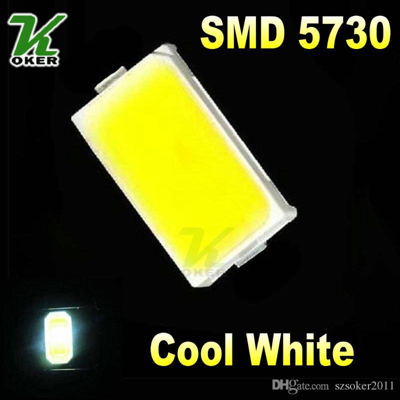 4000PCS / 릴 0.2W SMD 5730 5630 쿨 화이트 LED 램프 다이오드 울트라 브라이트 SMD 5730 5630 SMD LED 무료 배송