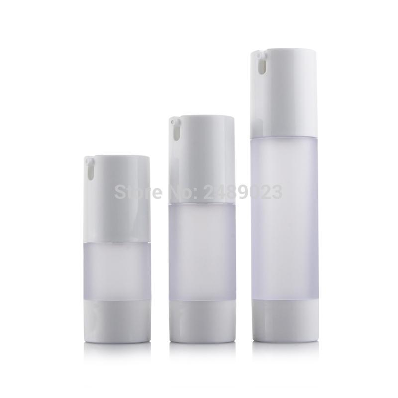 15 ml 30 ml 50 ml Botella sin aire Frosted Bomba de vacío Loción Botellas recargables utilizadas para envase cosmético 10 unids / lote