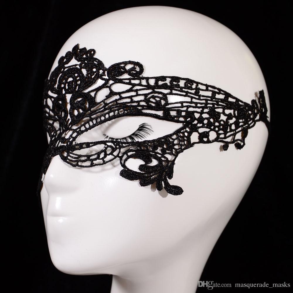 Half Faces Lace Eye Masks Masquerade Masks Party Masks Halloween ...