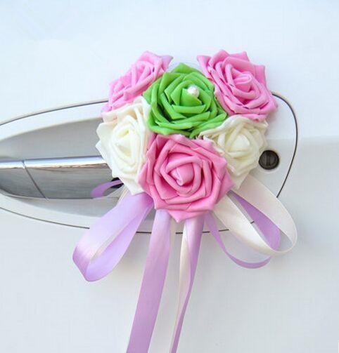 PET Rose Blumen für Hochzeit Auto Dekoration Rosen Artifical Rose Blumen für Dekoration Geschenk Box Dekor Hochzeit Zubehör