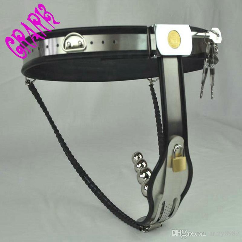 Dispositivi di cintura di castità femminile di tipo Y in acciaio inossidabile con spina vaginale, feticcio, giochi per adulti giocattoli di schiavitù sessuale erotici per le donne