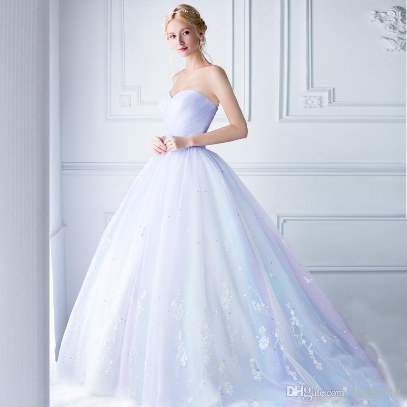 스파클 공주 공 가운 댄스 파티 드레스 Sweetheart Applique Sequins Bridal Gown Ruffle지면 지퍼 뒤 Quinceanera 드레스