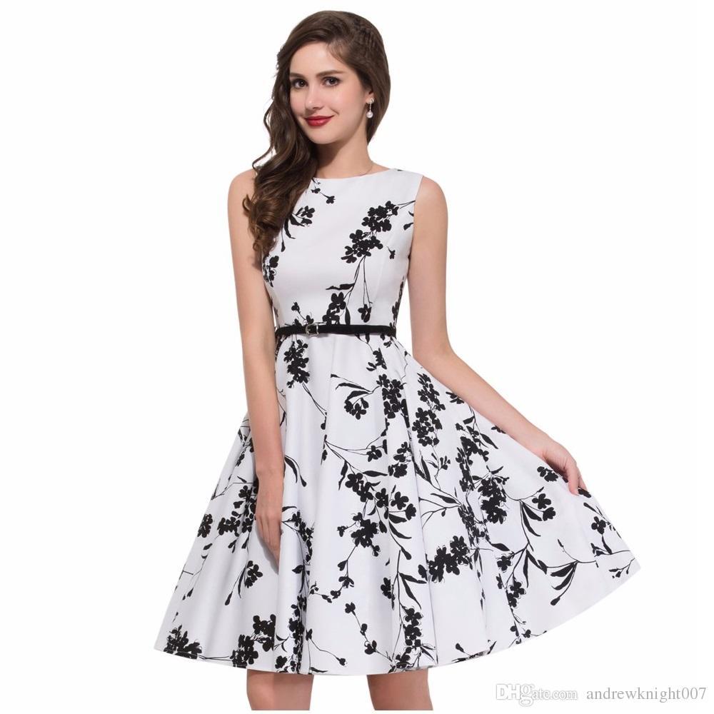 Summer Womens Dress Plus Size 4XL Clothing Audrey Hepburn Floral Robe Retro  Swing Casual 50s Vintage Rockabilly Dresses Vestidos DK3022MX Silk Dress ...