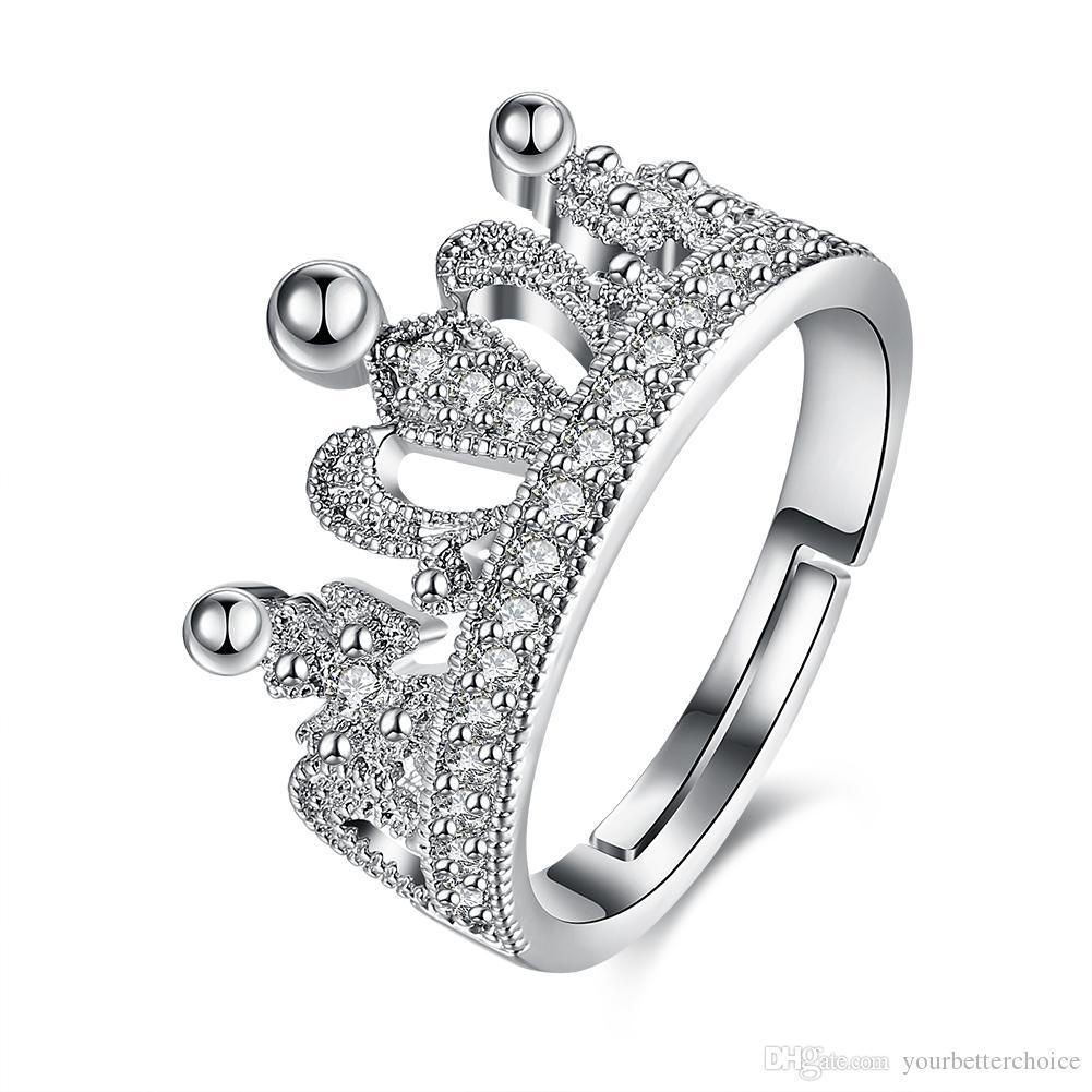 L'anello di barretta delle donne placcate argento 925 libere regolabili di zircone di figura chiara della parte superiore di figura di modo libera il trasporto