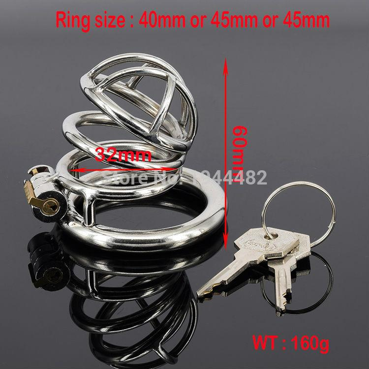 Sex Products Chastity Devices Cock Lock Metal Chastity Stainless Steel Bondage Cock Cage Male Chastity Belt Cock Ring