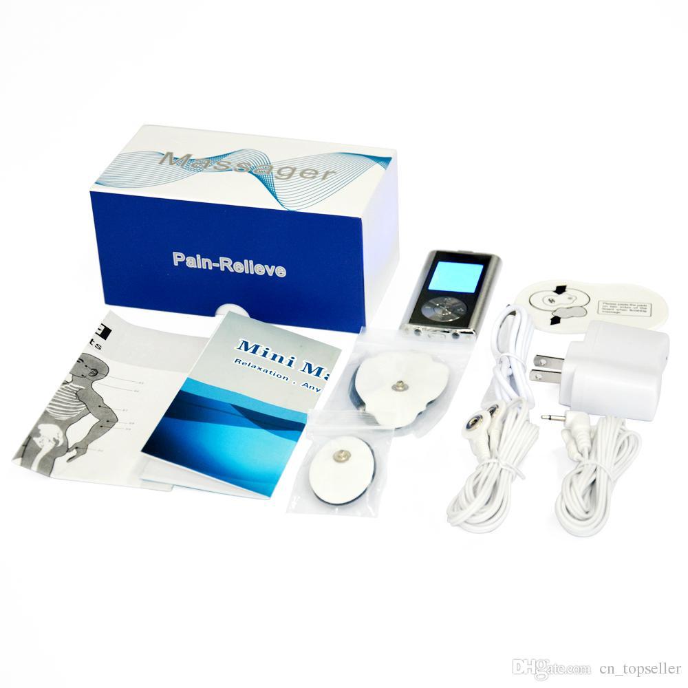 قابلة للشحن 6 طرق آلة tens مصغرة الجسم مدلك الرقمية مدلك القطب الوخز بالإبر للعلاج الطبيعي