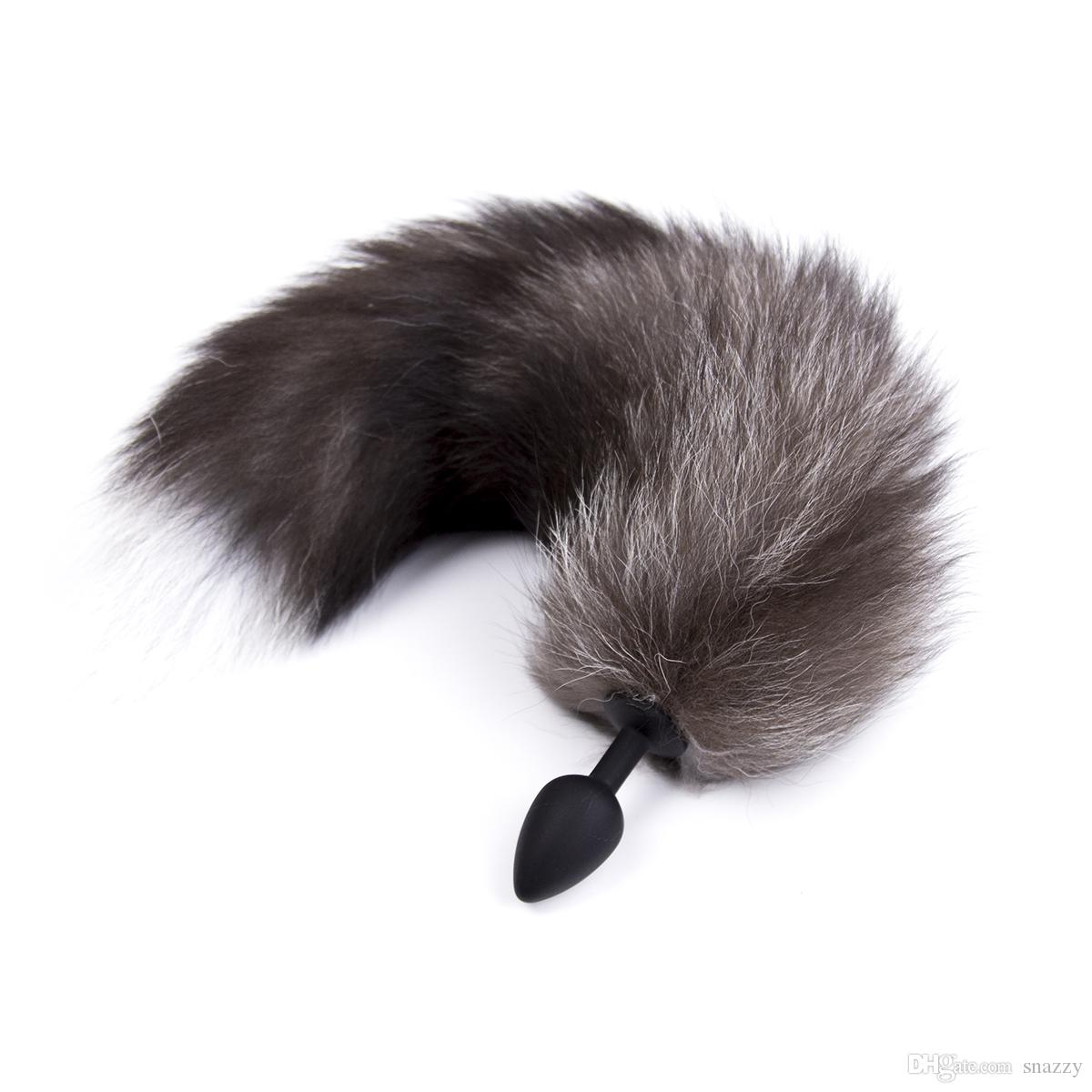 Capelli Coda Butt Plug 2,8 centimetri erotici colore nero come Fox Tail silicone spina anale adulti giocattoli del sesso anale Giocattoli per la donna
