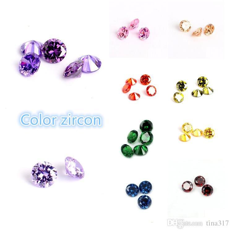الجملة سوبر جودة عالية اللون الزركون جولة 4-6 ملليمتر جوهرة الاصطناعي تقليد الماس ديي المجوهرات المواد CA332