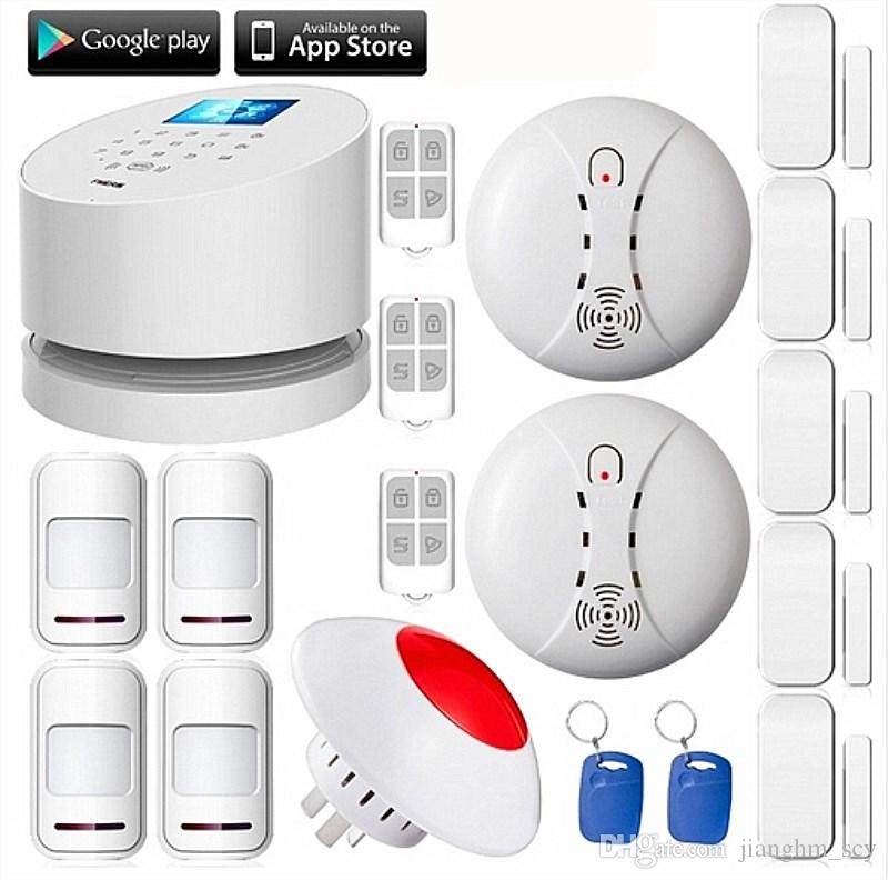 LS111- KERUI W2 IOS Android APP LCD UI Smart Touch Keypad Wireless WI-FI GSM PSTN Home Security Voice Burglar Alarm System Auto Dial
