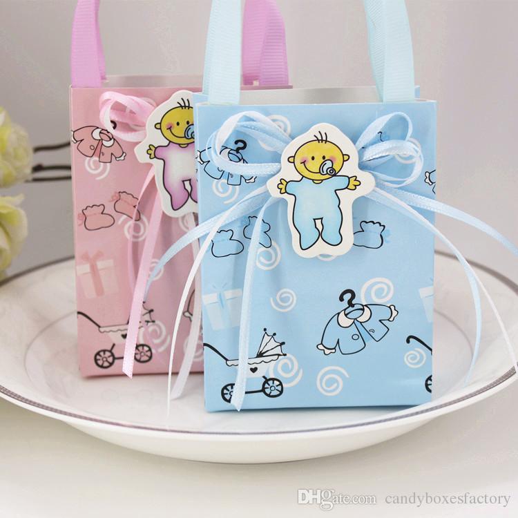 Großhandel Kleine Handtasche Baby Geburtstagsgeschenk Verpackung Geschenk Tasche Fertigen Box 4 Colo Für Option Von Candyboxesfactory 3174 Auf