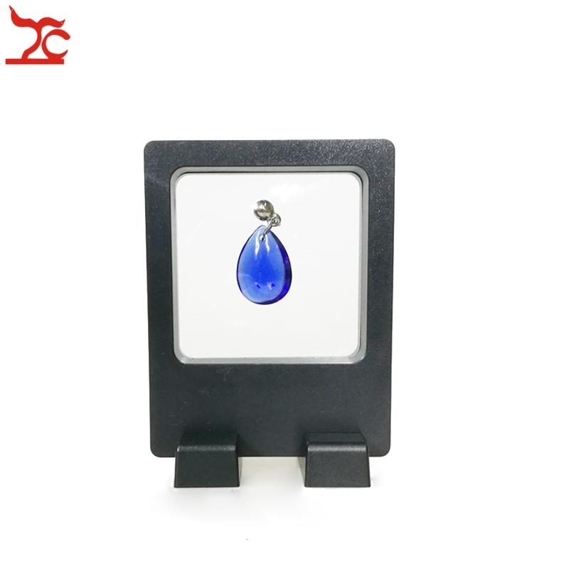 Wholesale 10Pcs PET Multifunctional Jewelry Display Window Earring Ring Display Stand Clear Accessories Display Box 7*9CM