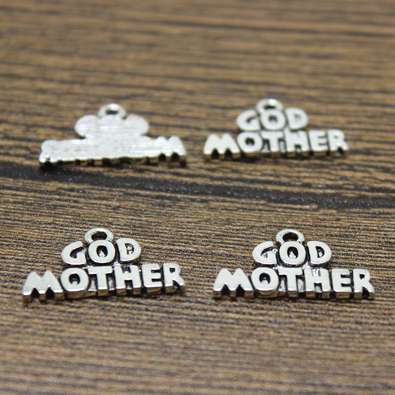 50pcs - 하나님 어머니 매력 15 x 11mm 골동품 실버 톤 하나님 어머니 펜던트 diy 보석 제작에 대 한
