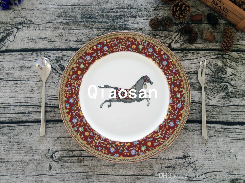classic european style plates high end ceramic plate bone china dinner plates food tray decor - China Dinner Plates