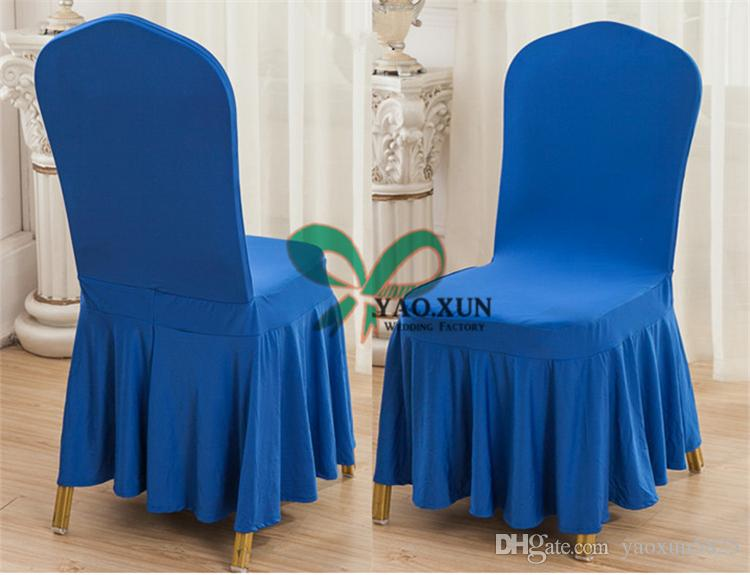 Bottom Ruffled Lycra Spandex Chair Cover \ Cheap Wedding Chair Covers