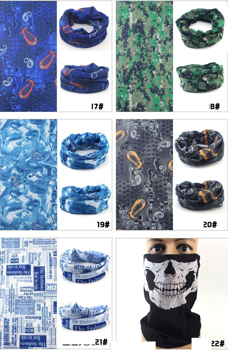vente chaudeMulti vélo moto casque masque facial demi masque de crâne CS Ski Chapeaux Cou cyclisme pirate bandeau chapeau halloween pirate kerchief