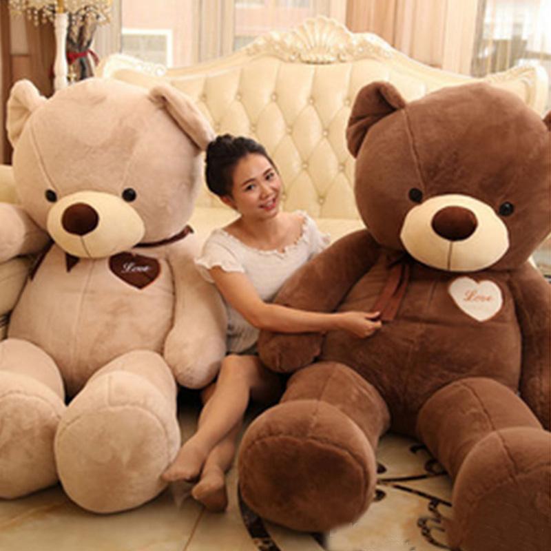 Big Gigante Urso De Pelúcia 160 cm de Algodão Macio Recheado Teddy Bears Brinquedos Melhores Presentes para As Crianças