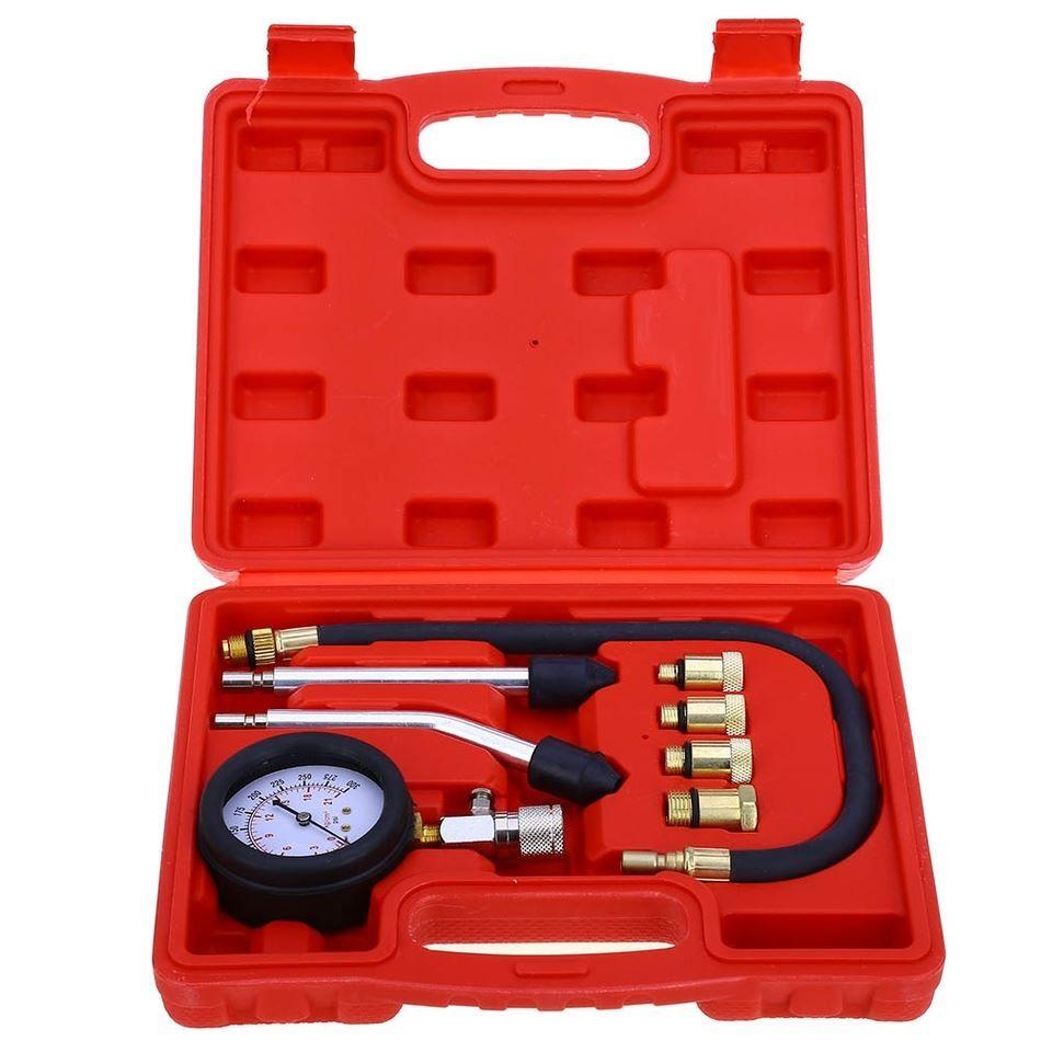 Freeshipping السريع نوع الضغط مقياس تستر كيت موتور السيارات البنزين محرك الغاز اسطوانة ضغط مقياس تستر أداة سيارة أداة تشخيصية