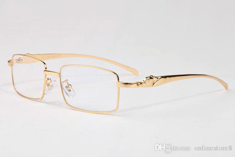 نظارات شمسية للجنسين باطار ذهبي مصنوع من المعدن