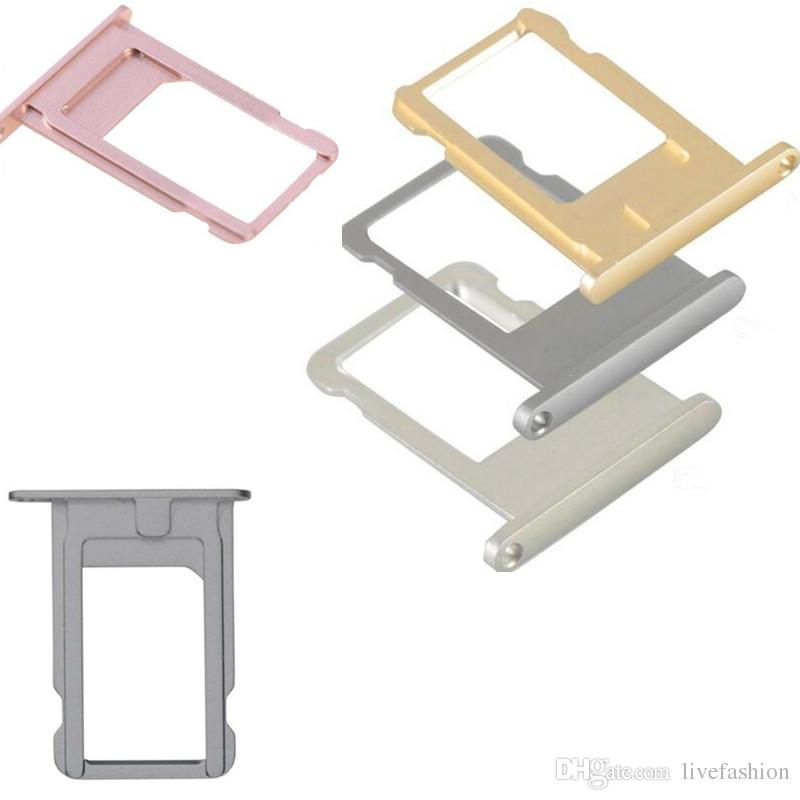 Cell Phone Accessories SIM Card Tray Holder Slot New Disign Fit For Iphone5 6 7 Plus Nano High Quality Colorful Replacement Repair Parts