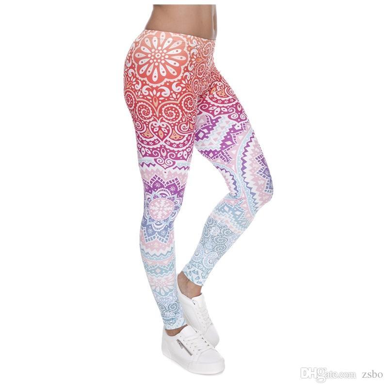 Leggings 3D das Mulheres Novo Gráfico Completo Impressão Girl Skinny Stretchy Calças Apertado encaixe Elástico Fino Sprots Aptidão Calças Lápis DDK5 FA