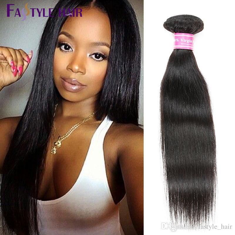 Fashion 2017!Fastyle Peruvian Straight Hair Weave Natural Black Brazilian Malaysian Indian Unprocessed Virgin Hair Bundles TOP Quality CHEAP