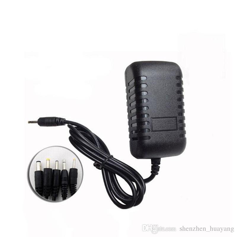 100 pcs Frete grátis 5 V 2A Preto Adaptador de Energia Carregador de Parede 2.5mm EUA / UE Plug Adaptadores para Android Tablet PC (DY)