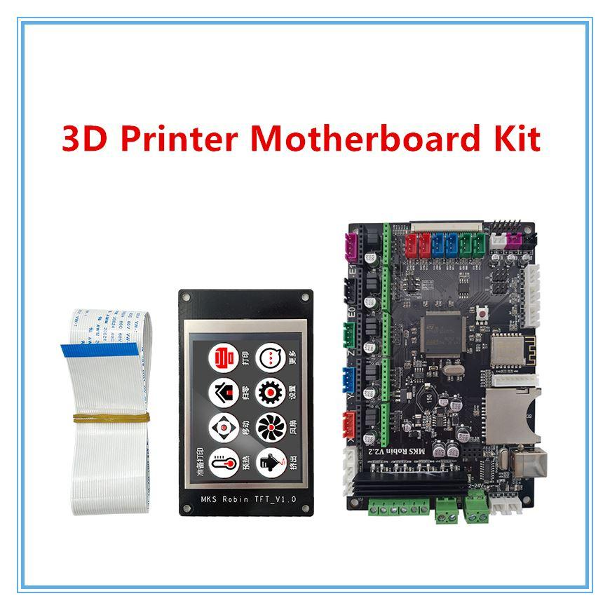 Freeshipping Micromake 3D Printer Parts MKS V2.2 Robin STM32 scheda integrata stm32 scheda di sviluppo Supporto Heatbed con touch screen