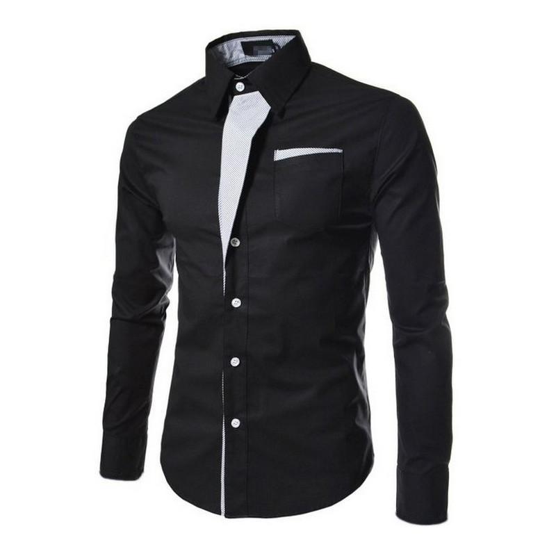 Commercio all'ingrosso 2016 camicia da uomo a maniche lunghe selvaggia camicia a maniche lunghe selvaggia moda maschile nuova camicia sette colori taglia M - XXXL