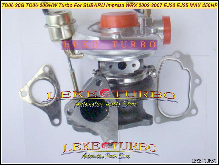 TD06 20G TD06-20GHW Turbo Turbocharger for SUBARU Impreza WRX 2002-2007 MAX HP 450HP Engine EJ20 EJ25