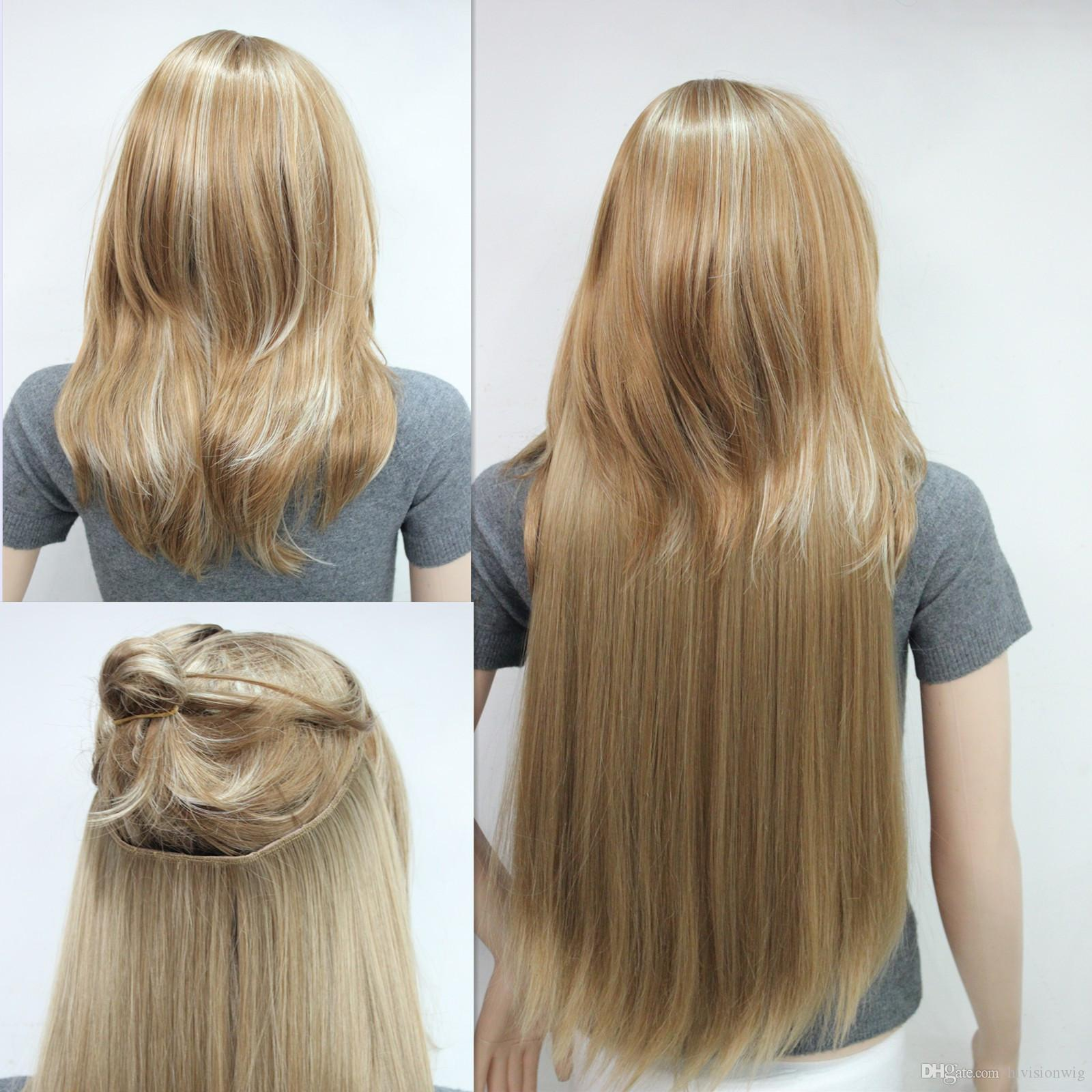 New invisible wire fish line clip in hair extensions straight 1 new invisible wire fish line clip in hair extensions straight 1 piece full head golden reddish blonde 2018 from hivisionwig 1506 dhgate mobile pmusecretfo Image collections