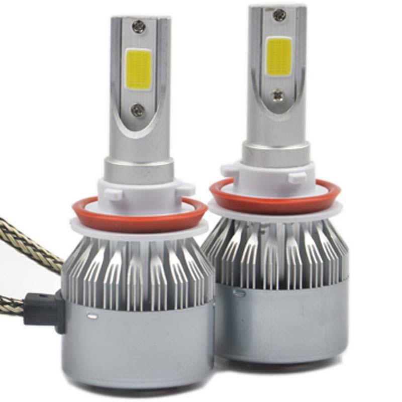H7 H4 H11 H1 H3 9005 9006 COB LED Araç Farlar 72 W 8000LM Oto Led Far Ampuller Kafa Lambası Ön Sis Farları 6500 K 12 V 24 V
