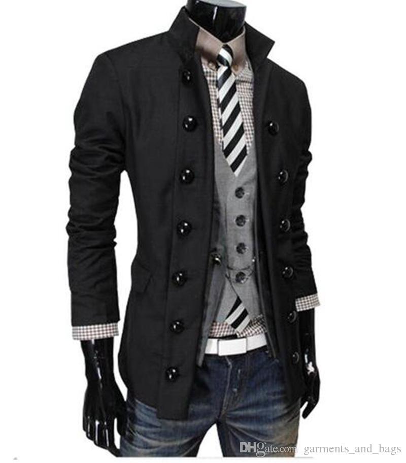 L'Europe et les États-Unis, les nouveaux hommes d'hiver cultiver un costume à double boutonnage de la personnalité morale de la mode de veste / M-2XL