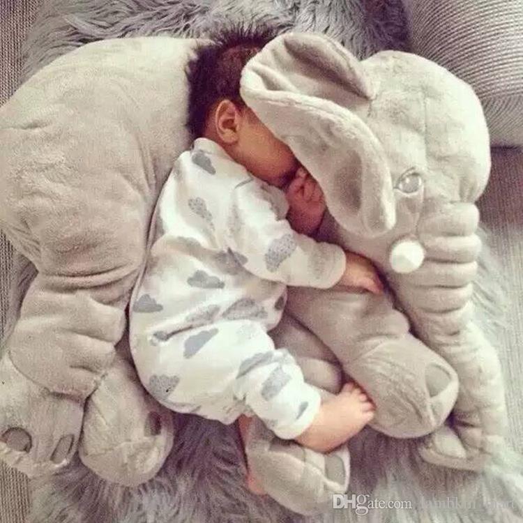 Kuscheltier Elefant Kissen Stofftier Spielzeug für Baby Plüschtier Lendenkissen