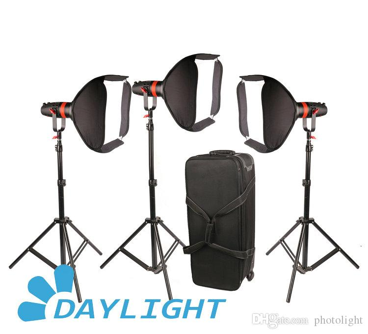 3 piezas de CAME-TV Boltzen 55w Fresnel Focusable LED Daylight Package