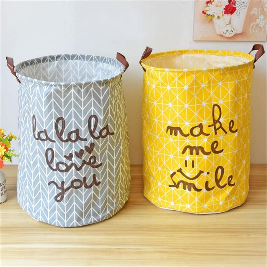 Large Laundry Basket 40*50cm Baby Laundry Baskets Eco-Friendly Picnic Basket Free Shipping