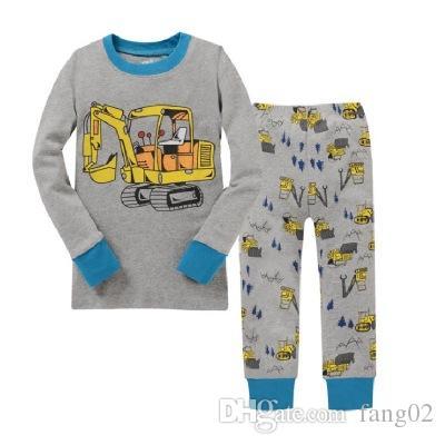 새로운 어린이 의류 키즈 의류 세트 소년 잠옷 스타일링 Nightwear 인쇄 잠옷 여자 잠 옷 Baby Pajama homeewear 2-7t