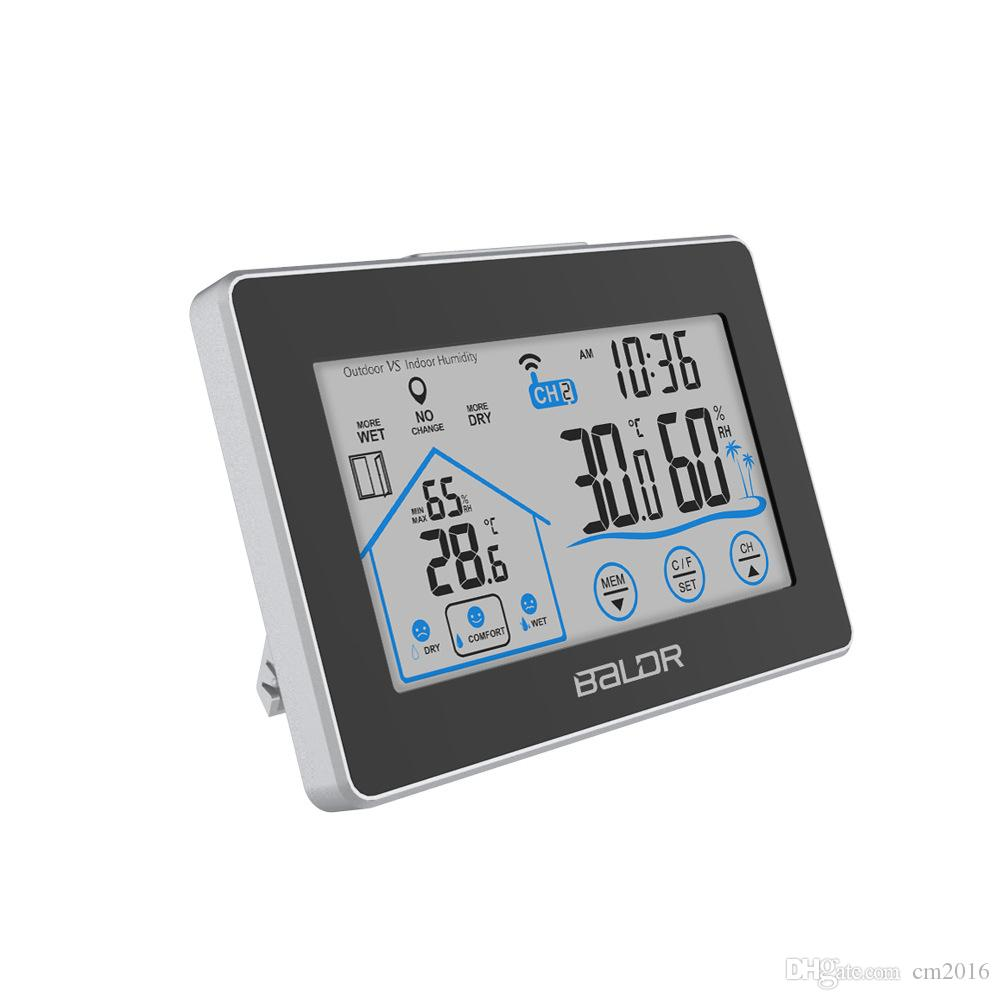 Baldr Digital Weather Station Clock In//Outdoor Wireless Thermometer with Sensor