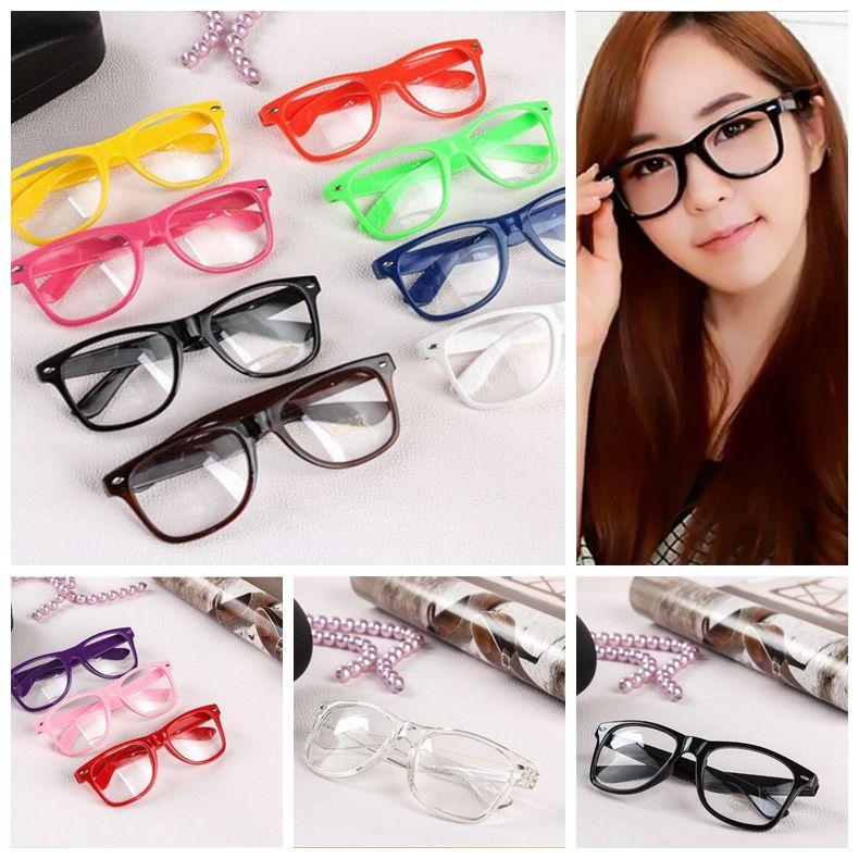 Hot Sunglasses Unisex sunglasses Rivet Sunglasses Retro Color Unisex Punk Geek Style Clear Lens Glasses OOA4808