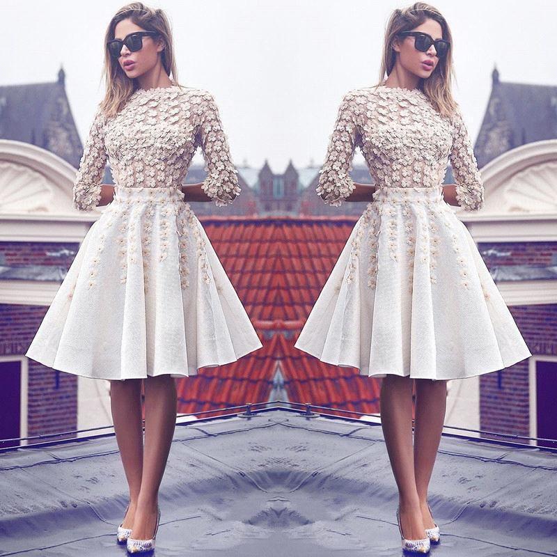knee length long sleeve knee length modest homecoming dresses