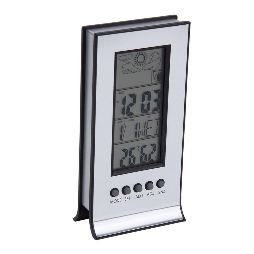2017 New Arrival Indoor Outdoor Wireless Thermometer Weather Station Alarm Clock Calendar