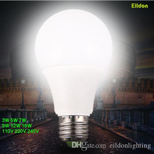 LED E27 ضوء لمبات (محفظة 5pcs FREE) 15W 12W-9W-7W-5W-3W AC85-265V E14 B22 E26 غلوب مصابيح الإضاءة مباشرة من شنتشن الصين بالجملة مصنع