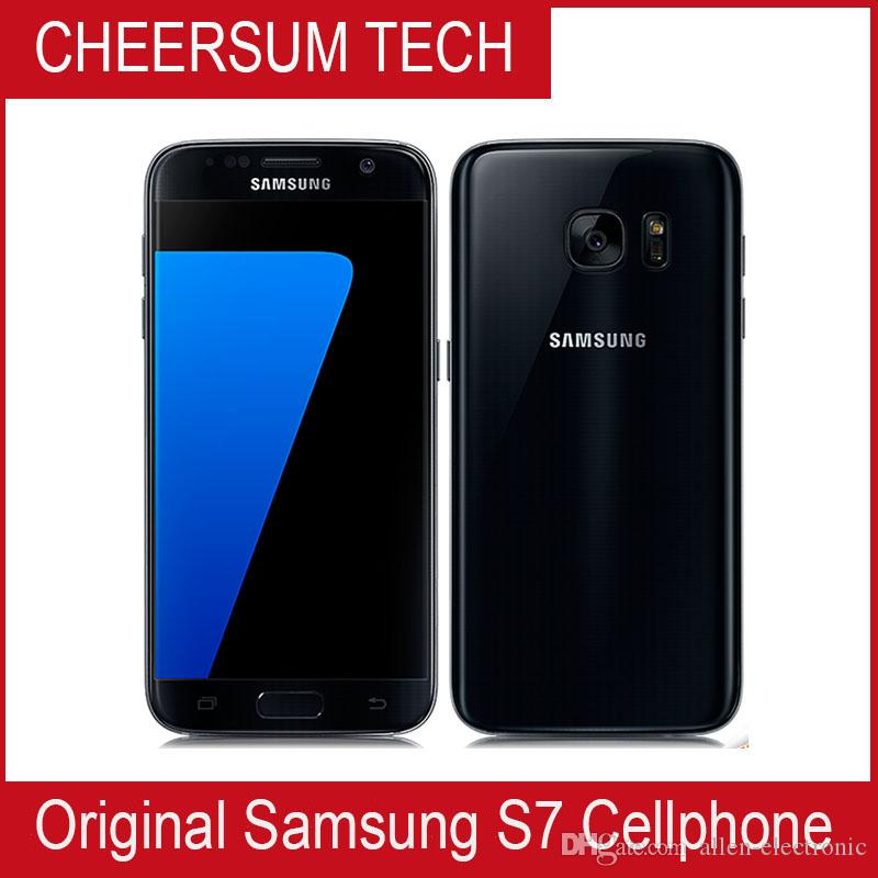 Oryginalny Samsung Galaxy S7 G930A G930T G930P G930V Odblokowany telefon OCTA Core 4 GB / 32 GB 5,1 cala 12mp odnowiony telefon komórkowy